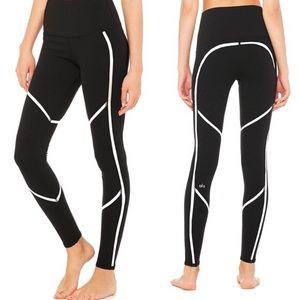 Alo high waisted black and white leggings